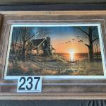 """LOT#W237: """"Comforts of Home"""" by Terry Redlin Signed & Numbered Print"""