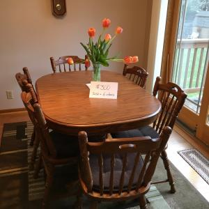 Photo of Dining Room Table with 6 chairs