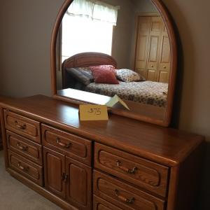 Photo of Dresser and mirror