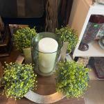 candle decor centerpiece