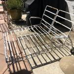 "VINTAGE VERY RARE ""DOUBLE"" IRON LOUNGE"