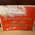 Lot# 289 s Laurel Creek WVA Sign Coal Co WHITBY W VA Street Sign Marker