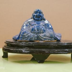 Photo of Blue Lapis Solid Hand Carved Stone Buddha
