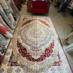 Hand Knotted Asian Silk Rug (large)
