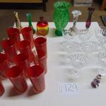Box 129  Glassware and vases