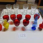 Box 128  Vases and glassware