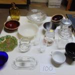 Box 100  Fire King, Pyrex, American Eagle bottle, bowls