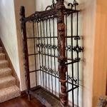 Monumental French Carved Wood and Iron Hanging Rack