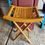 Wood stool collapse