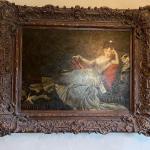 Original Napoleonic-Style Lounge Boudoir Portrait Painting