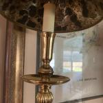Vintage buffet brass table lamps !