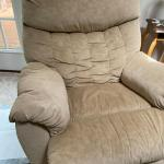 Beige Microfiber Recliner - Good Shape