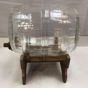Photo of Vintage Glass Barrel with Spicket and Stand