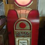 Vintage Gas Pump Display Storage Cabinet