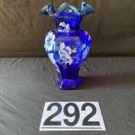 LOT#G292: Signed 75 Anniversary Fenton Vase
