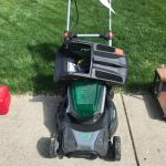 Battery operated lawn mower Made by Scotts
