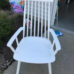 Comfy white woodchair