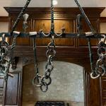 18th C Rare Hand Forged Cremaillere (cooking utensil rack)
