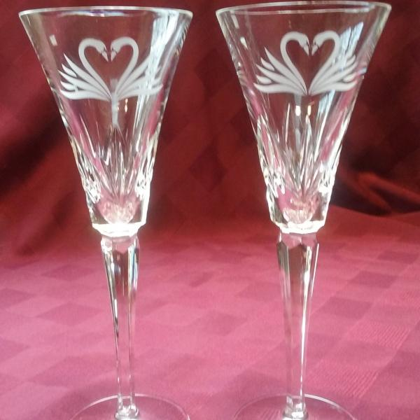 Photo of Waterford Crystal Champagne Flutes