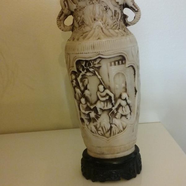 Photo of Vintage Asian Resin Vase