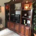 Cherry wood tv entertainment cabinets