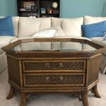 Rattan and wood Coffee Table