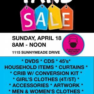 Photo of Yard Sale SUNDAY (April 18)