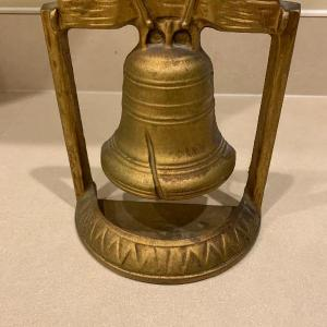 Photo of Vintage brass liberty bell statue