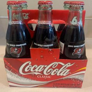 Photo of 2002 Tampa bay buccaneers collectible Coca Cola bottle 6 pack