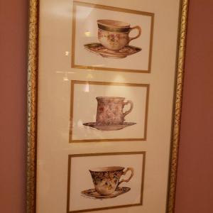 Photo of Two prints of tea cups
