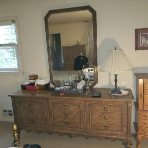 Photo of Vintage Dresser and mirror