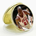 United States Michael Jordan uncirc. golden coin #1