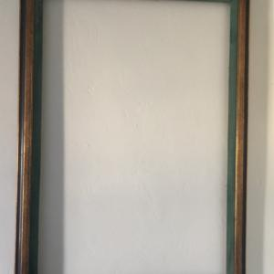 """Photo of Vintage 1970's Colorful Wood Wall Frame 29"""" x 41"""" AS IS"""