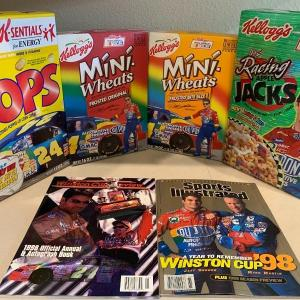 Photo of Jeff Gordon cereal and magazines