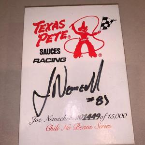 Photo of Signed joe nemecheck car with certificate of authenticity