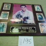 Item 195 Elvis Plaque