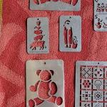 Lot 369: Vintage Metal Embossing Stencils
