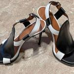 Givenchy Black and White Heels size 39 pristine!