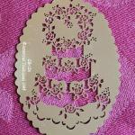 Lot 373: Vintage (4) Metal Embossing Stencils