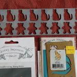 Lot 376: Vintage  Brass & Mixed Metal Embossing Stencils