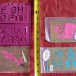 Lot 378: Vintage Metal Embossing Stencils