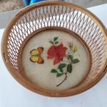 Vintage Butterfly- Rose Basket
