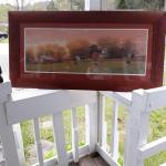 Farm Picture with wood frame
