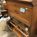 Oak Antique desk front Barrister bookcase beautiful condition