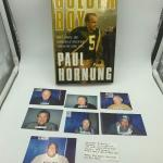 "Autographed book Paul Hornung ""Golden Boy"" with other autographs.  (Willie D"