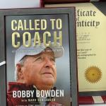"Autographed Book Bobby Bowden ""Called to Coach"" with COA."
