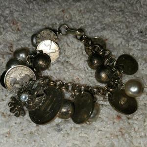 Photo of Coin Bracelet with Pearls