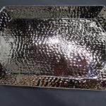 Large Silver Bar Tray - Jalisca - Hammered Design