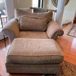 Oversized Chair & Ottoman