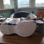 Women's camo platform Crocs